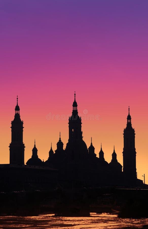 Cattedrale di Saragossa fotografia stock libera da diritti