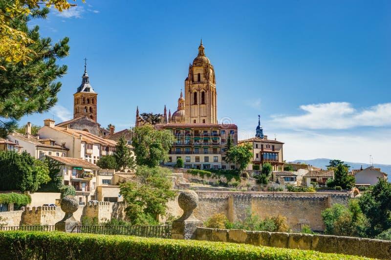 Cattedrale di Segovia fotografie stock libere da diritti
