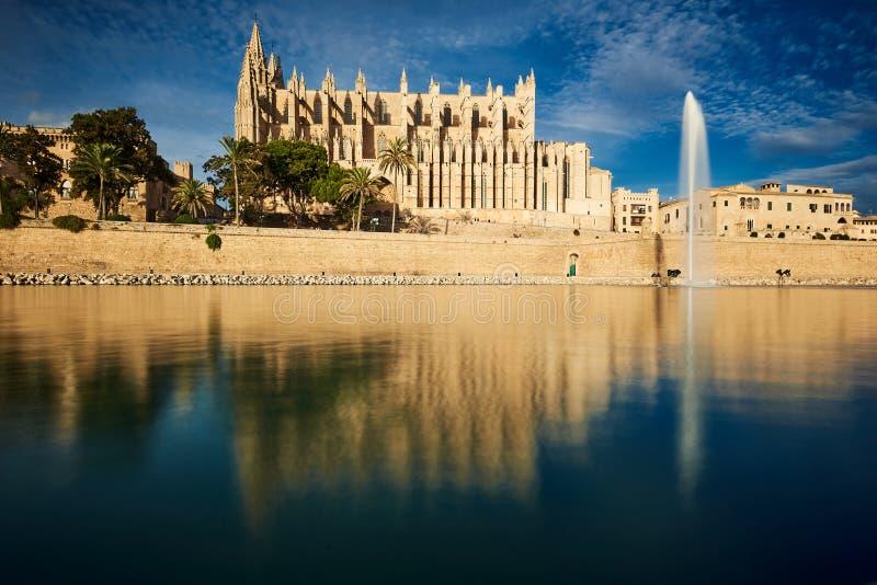 Cattedrale di Seu della La in Palma de Mallorca immagine stock libera da diritti