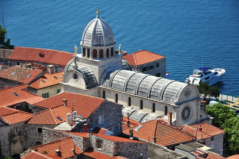 Cattedrale di Sibenik fotografie stock