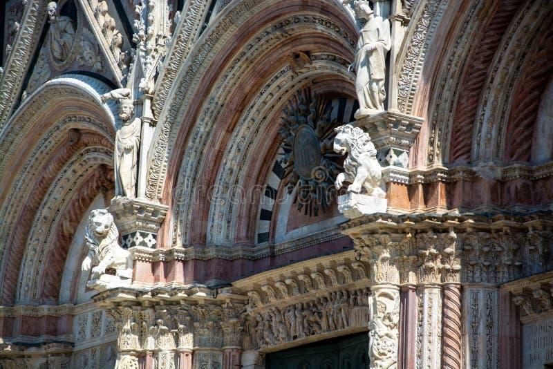 Cattedrale di Siena, Toscana, Italia fotografia stock libera da diritti