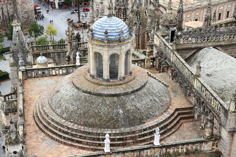 Cattedrale di Siviglia - della Spagna fotografia stock libera da diritti