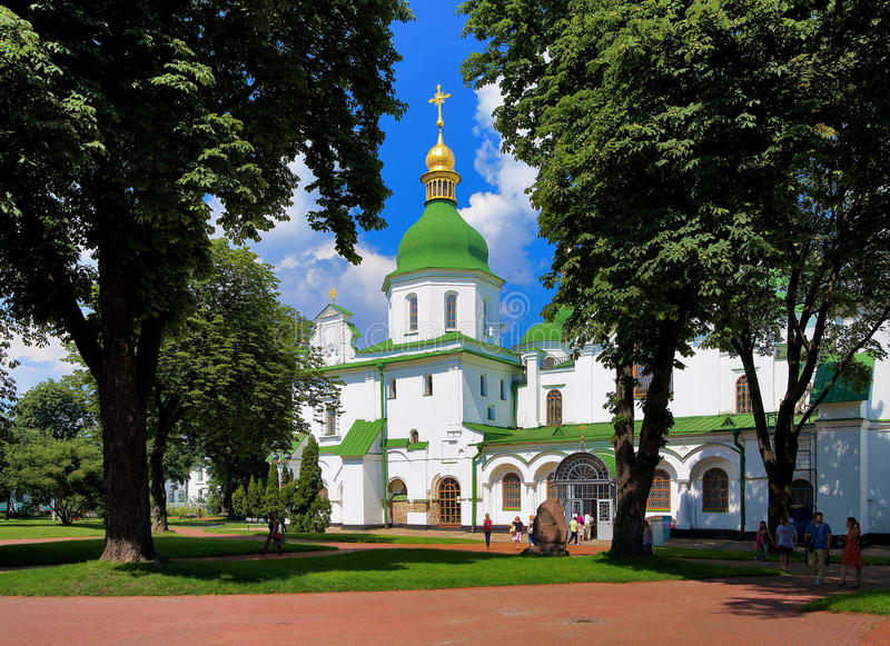 Cattedrale di Sophia del san a Kiev immagine stock libera da diritti