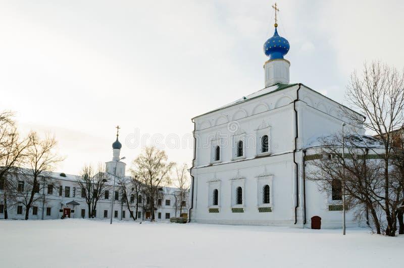 Cattedrale di Spaso Preobraženskij del Cremlino Russia di Rjazan' immagine stock libera da diritti