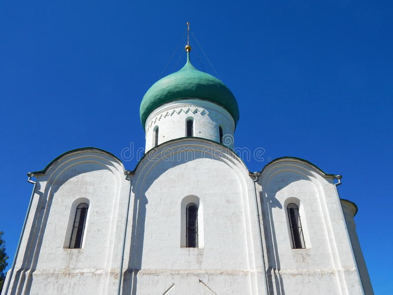 Cattedrale di Spaso-Preobraženskij (la cattedrale della trasfigurazione) a partire XII dal secolo, Pereslavl-Zalessky, Russia immagine stock