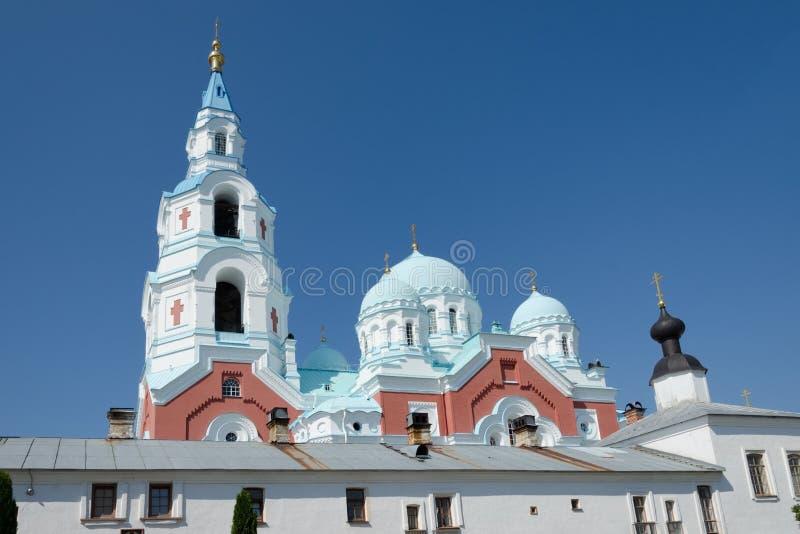 Cattedrale di Spaso-Preobra?enskij del monastero di Valaam Isola di Valaam, Carelia, Russia fotografia stock libera da diritti