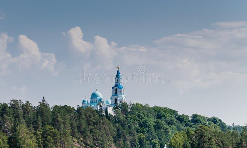 Cattedrale di Spaso-Preobra?enskij del monastero di Valaam Isola di Valaam - il santo dei pellegrini ortodossi santi La Carelia,  fotografia stock libera da diritti