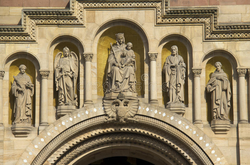 Cattedrale di Speyer, Germania fotografie stock libere da diritti