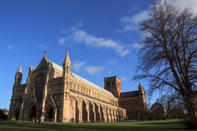 Cattedrale di St Albans immagine stock