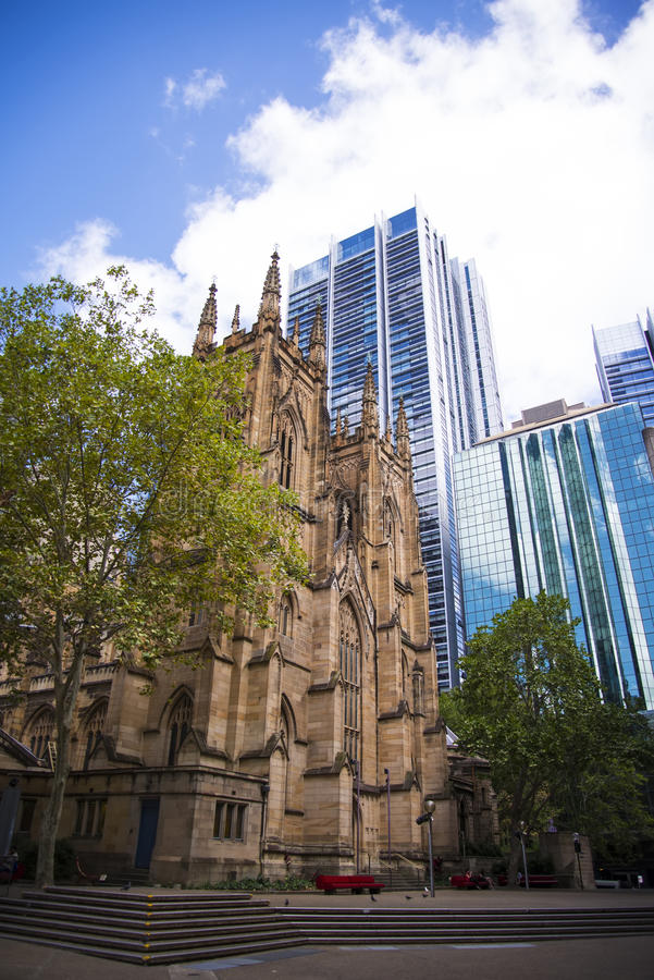 Cattedrale di St Andrew a Sydney immagini stock libere da diritti
