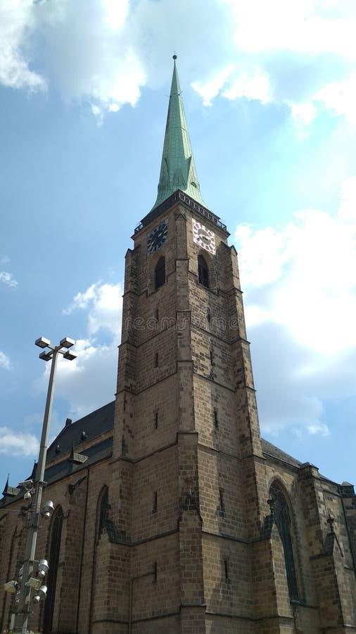 Cattedrale di St Bartholomew, Plzen fotografie stock libere da diritti