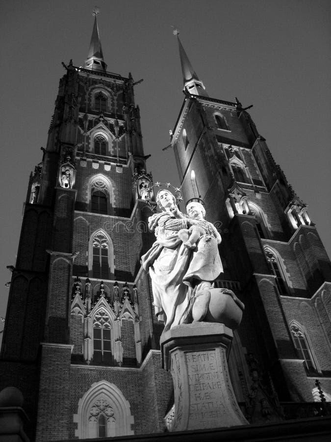 Cattedrale di St John a Wroclaw fotografie stock