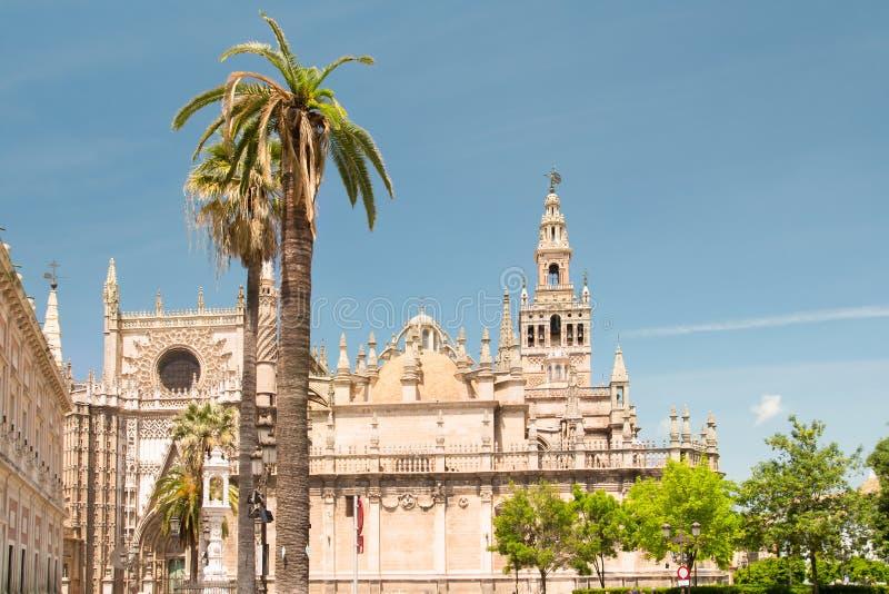 Cattedrale di St Mary, Catedral de Santa Maria de la Sede in Siviglia fotografia stock libera da diritti