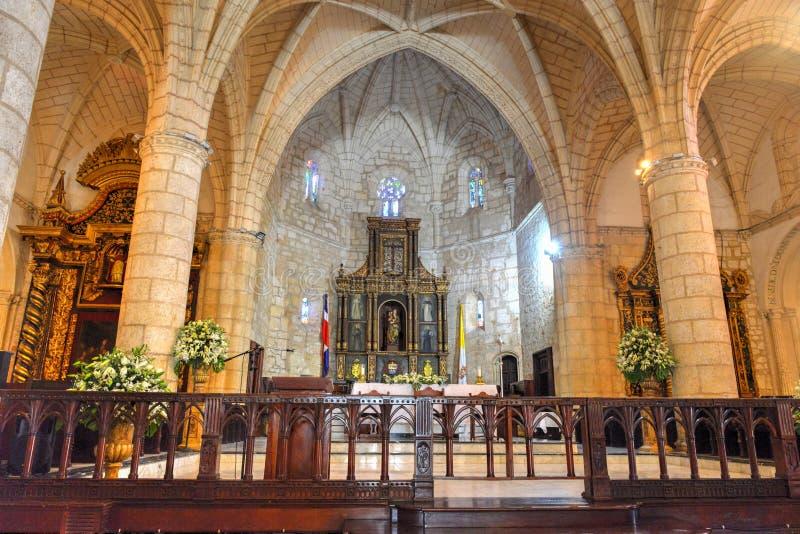Cattedrale di St Mary dell'incarnazione, Santo Domingo, Dominic immagine stock libera da diritti