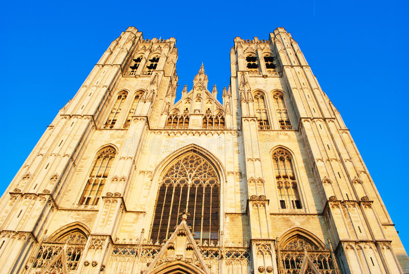 Cattedrale di St Michael e della st Gudula immagini stock