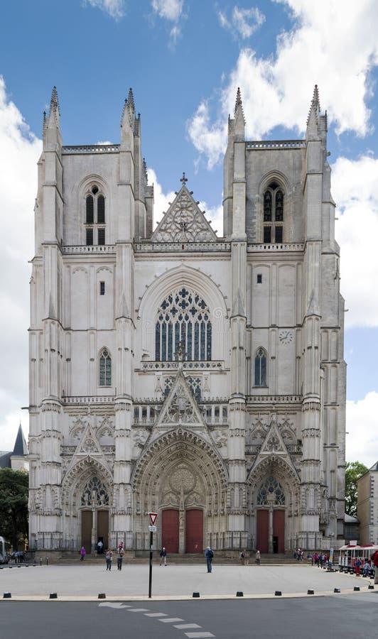 Cattedrale di St Peter e di St Paul a Nantes Francia fotografie stock libere da diritti