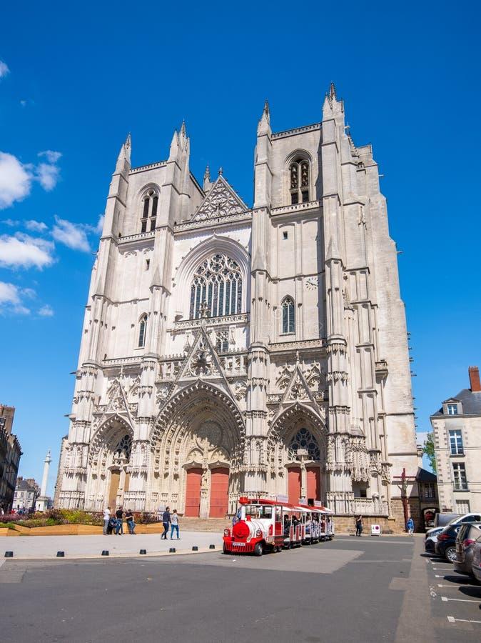 Cattedrale di St Peter e di St Paul a Nantes, Francia fotografie stock libere da diritti