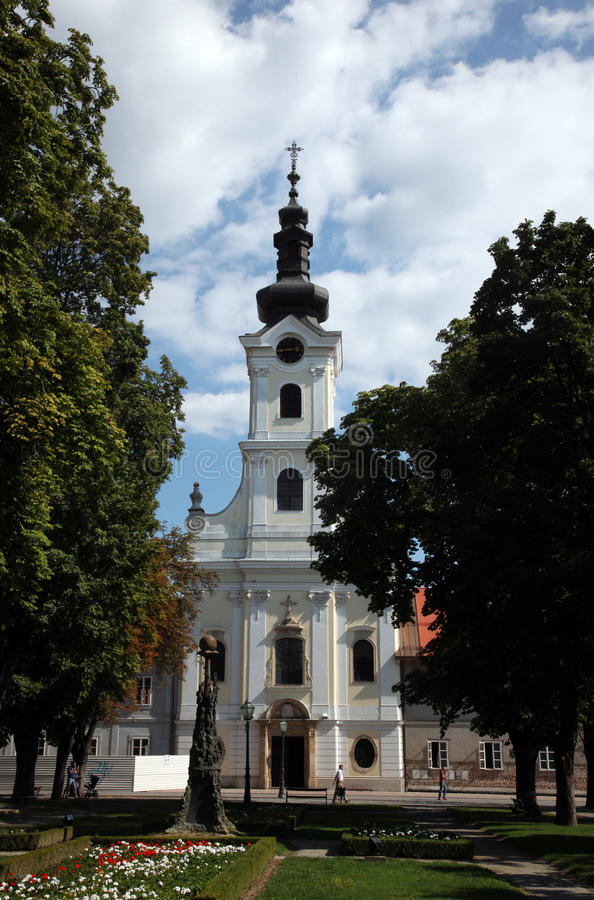 Cattedrale di St Teresa di Avila in Bjelovar, Croazia fotografia stock libera da diritti