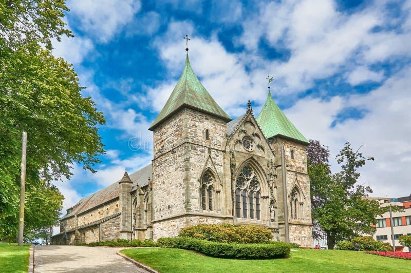 Cattedrale di Stavanger immagine stock libera da diritti