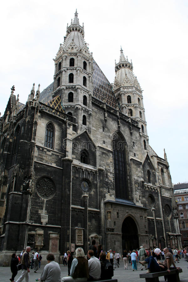 Cattedrale di Stephansdom - Vienna fotografie stock