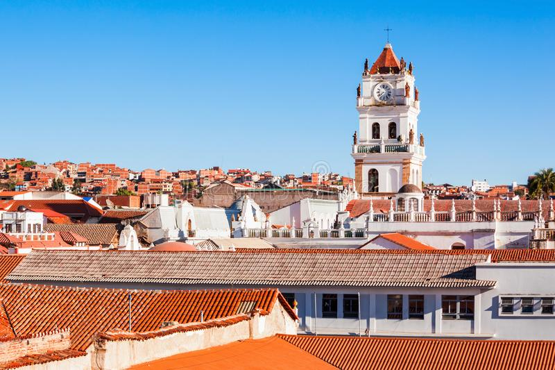 Cattedrale di Sucre immagini stock libere da diritti