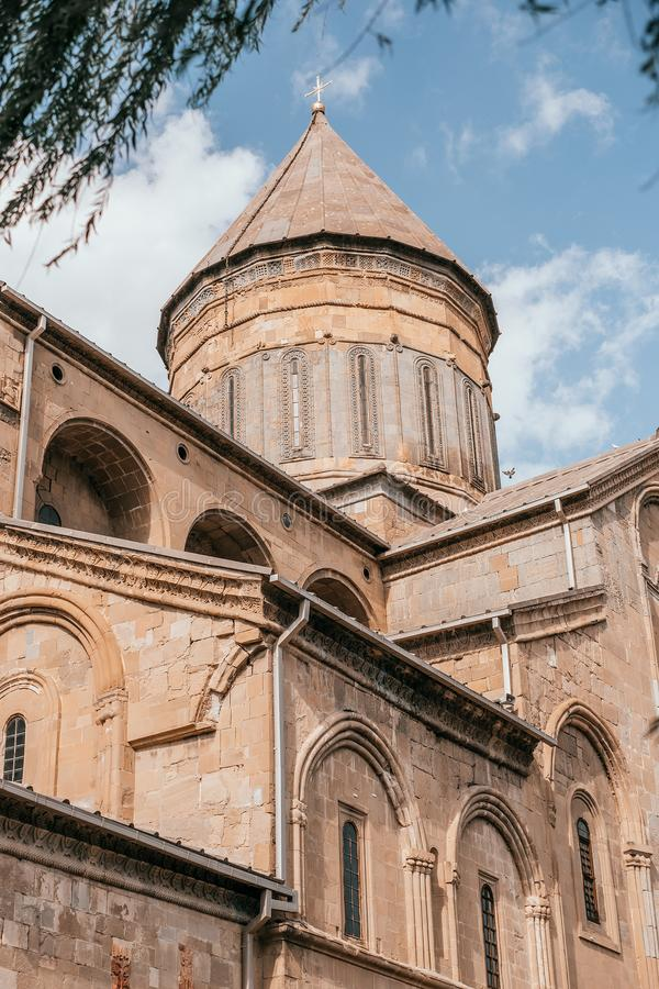 Cattedrale di Svetitskhoveli in Mtskheta fotografia stock