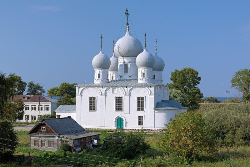 Cattedrale di trasfigurazione in Cremlino di Belozersk immagini stock