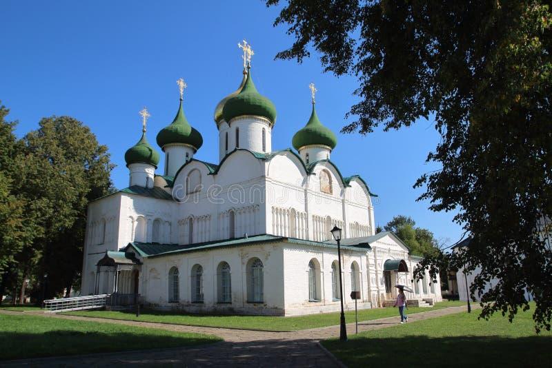 Cattedrale di trasfigurazione nel monastero del salvatore della st Euthymius in Suzdal', Russia immagine stock libera da diritti
