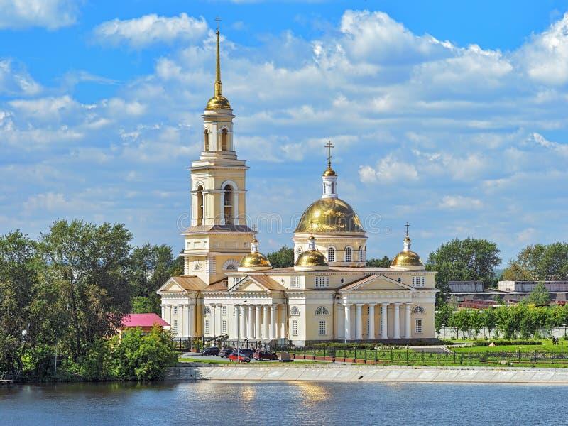 Cattedrale di trasfigurazione in Nevyansk, Russia immagini stock