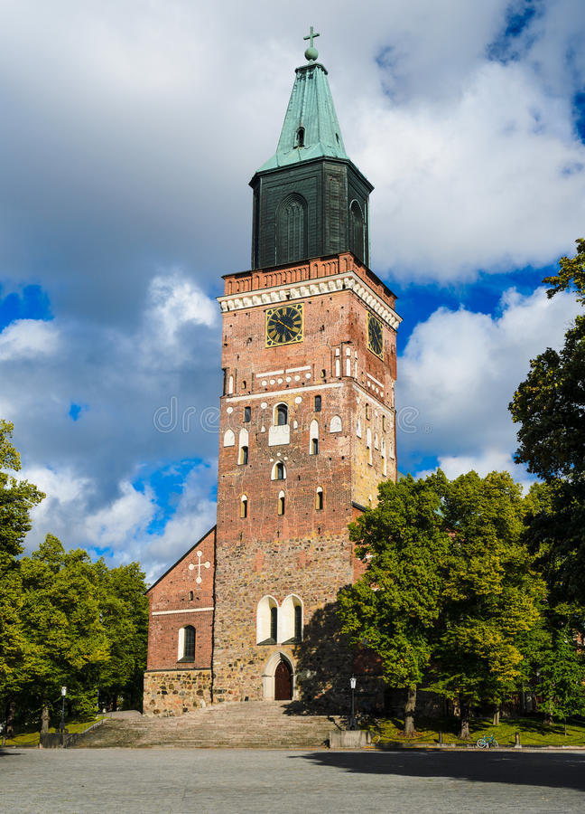 Cattedrale di Turku, Finlandia immagine stock libera da diritti