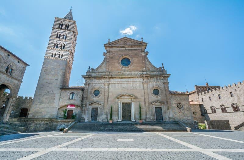 Cattedrale di Viterbo, distretto di Pellegrino del san, Viterbo, Lazio Italia fotografie stock libere da diritti