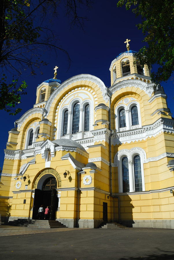 Cattedrale di Vlodimersky a Kiev fotografia stock