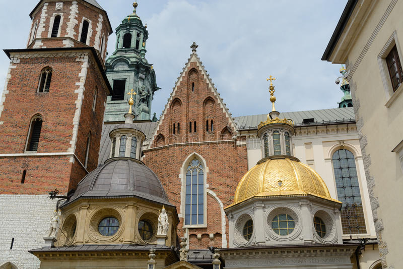 Cattedrale di Wawel a Cracovia fotografia stock