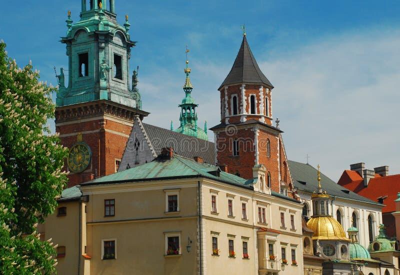 Cattedrale di Wawel, Cracovia, Polonia immagini stock libere da diritti