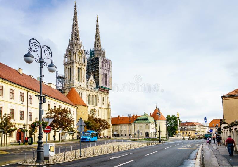 Cattedrale di Zagabria immagini stock
