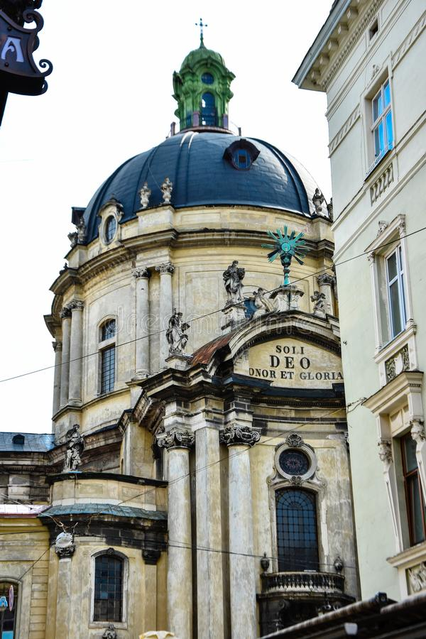 Cattedrale domenicana 'Soli Deo Honor et Gloria' fotografie stock