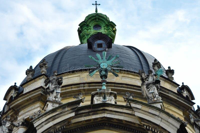 Cattedrale domenicana `Soli Deo Honor et Gloria` immagini stock libere da diritti