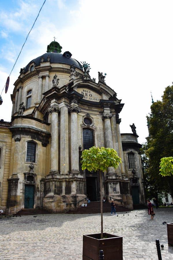 Cattedrale domenicana 'Soli Deo Honor et Gloria' immagine stock libera da diritti