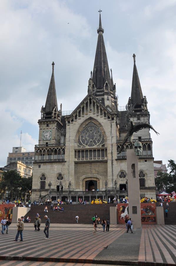 Cattedrale enorme di Manizales, Colombia fotografia stock