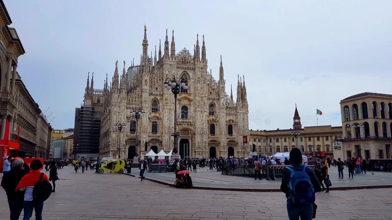 Cattedrale famosa di Milano dei Di del duomo, architettura gotica, punto di riferimento italiano, viaggio fotografie stock
