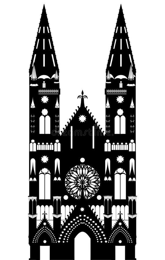 Cattedrale gotica illustrazione vettoriale