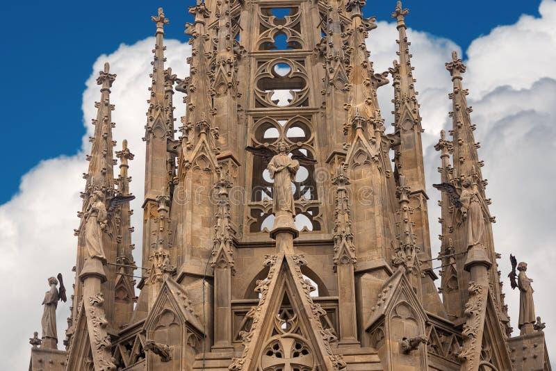 Cattedrale gotica di Barcellona - la Spagna Europa immagine stock libera da diritti