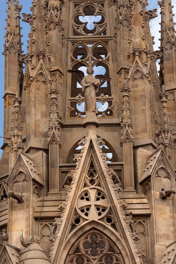 Cattedrale gotica di Barcellona - la Spagna Europa fotografie stock libere da diritti