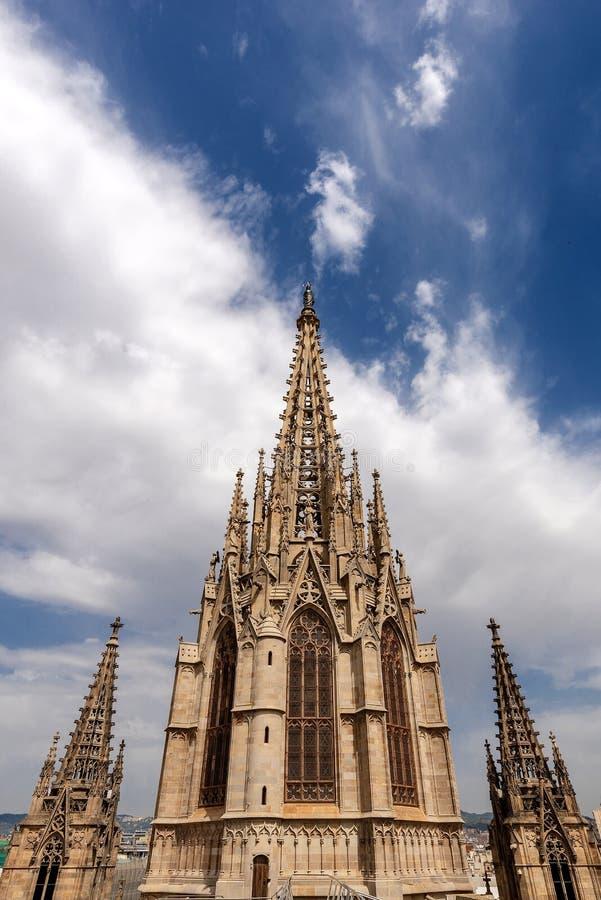 Cattedrale gotica di Barcellona - la Spagna Europa fotografia stock