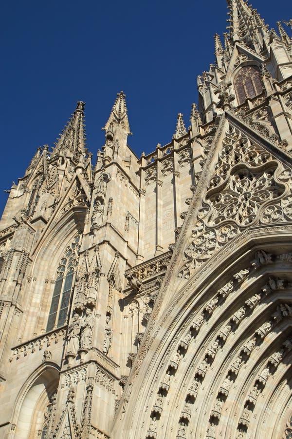 Cattedrale gotica di Barcellona. Verticalmente. fotografia stock libera da diritti