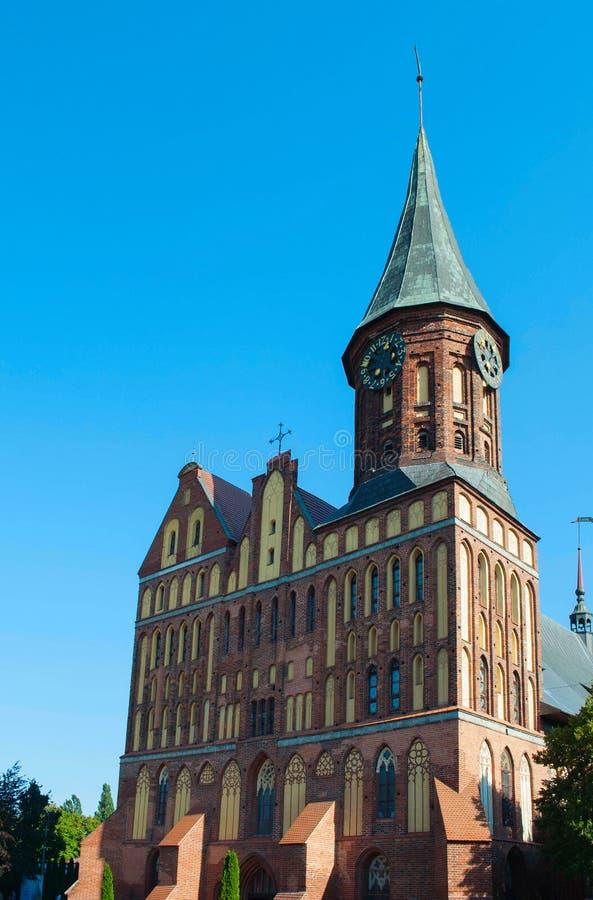 Cattedrale gotica di stile del mattone immagine stock