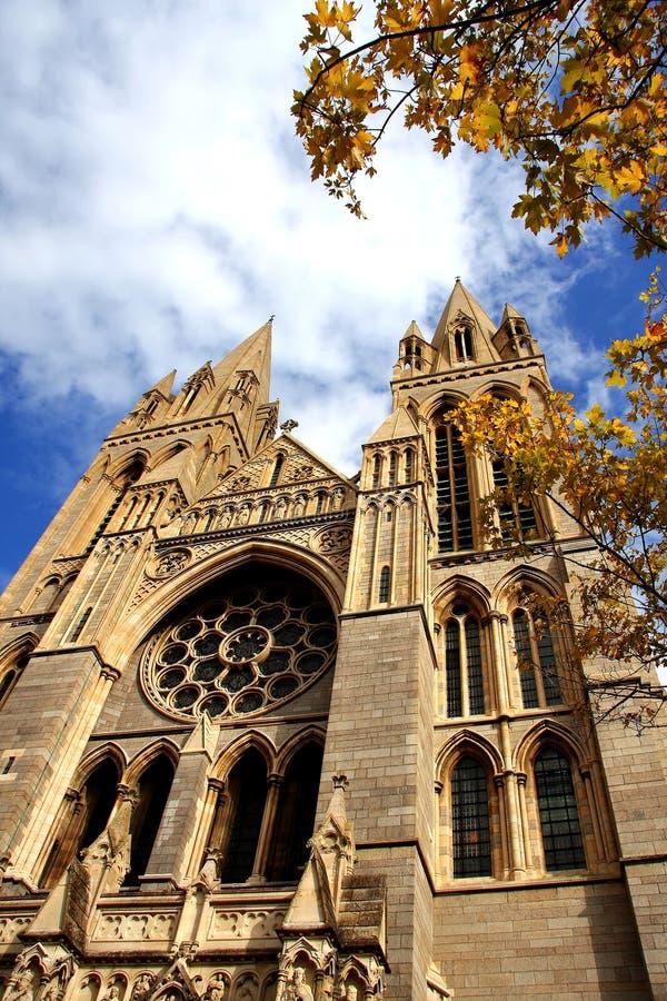 Cattedrale gotica in Truro, Regno Unito fotografia stock libera da diritti