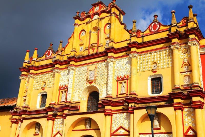 Cattedrale II di San Cristobal de Las Casas fotografia stock libera da diritti