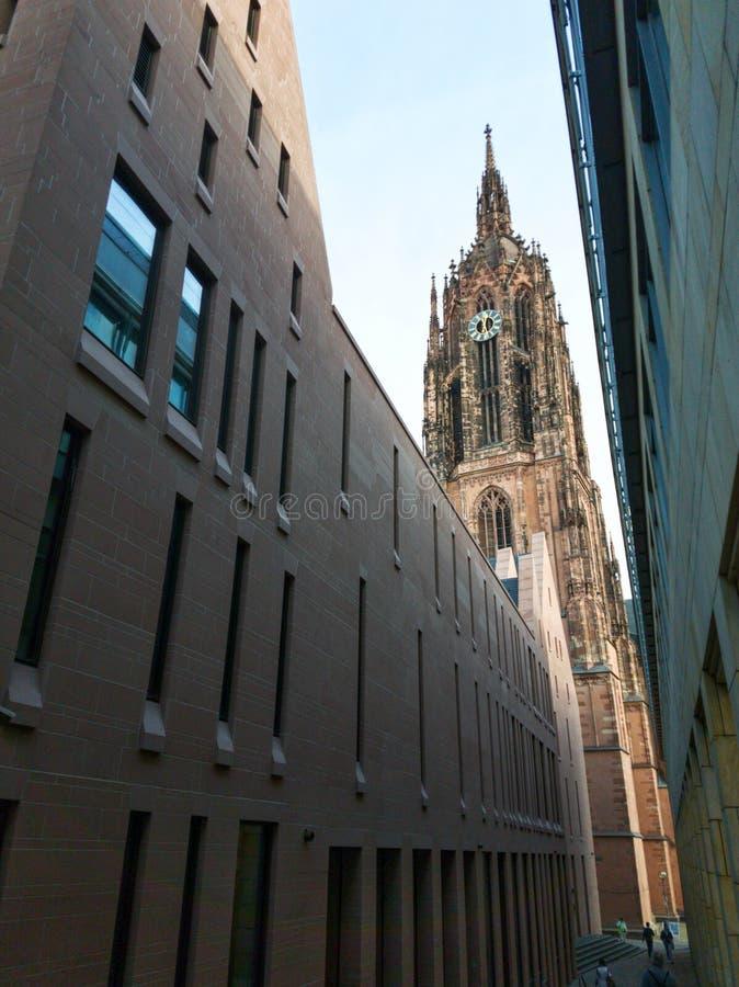 Cattedrale imperiale di St Bartholomew a Francoforte sul Meno immagine stock libera da diritti