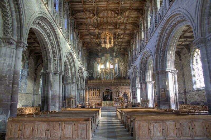 Cattedrale interna della st Davids immagini stock libere da diritti